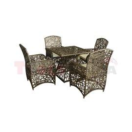 Мебели градински с възглавници Rimini 5 части