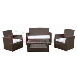 Мебели градински с маса 90х50см. кафеви 4 части
