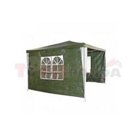 Шатра градинска полиестер зелена с 3 страни 3х3м.