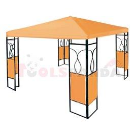 Шатра градинска полиестер оранжева с ъгли 3х3м.