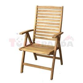 Стол градински с подлакътник 75х60х106см. Viena JAVANESIA