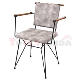 Стол метален с дърво и възглавничка Penny
