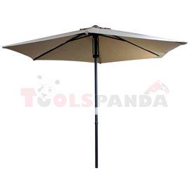 Чадър градински 2.5м. mocha