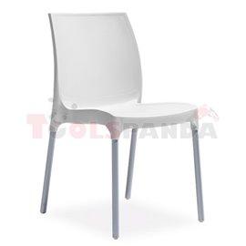 Стол градински бял Sunny 58х42х82см.