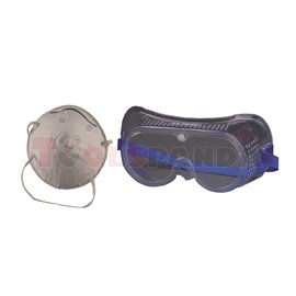Маска за прах и защитни очила к-т   TopStrong