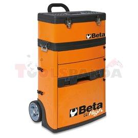 C41H-R - Метална количка за инструменти от две части сива (495x335x920мм) за инструменти