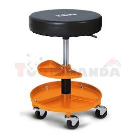 2250-O - Работен стол на колела, с тавички