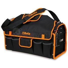 C10 - Чанта текстилна празна (520x220x250мм) за инструменти с външни джобове (5 бр) и празна тава, вградена в дъното