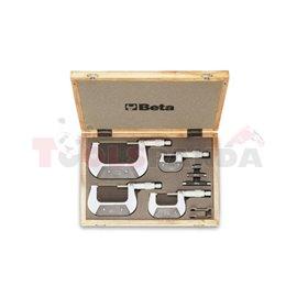 1658 /C4 - К-т микрометри 1658 (4 бр) и аксесоари (5 бр) в дървена кутия