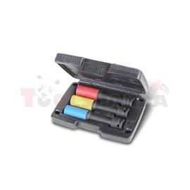 720 LCL/C3 - Комплект от 3 бр. ударни вложки, удължени, с цветни полимерни предпазители (за монт/демонтаж на колела), в пластмас