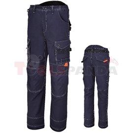 7816BL /XXXL - Панталон работен, с много джобове